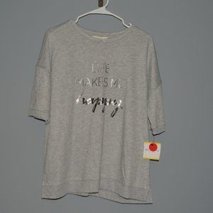 """Life Makes Me Happy"" by Liz Claiborne Weekend XL"